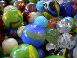 scattered marbles