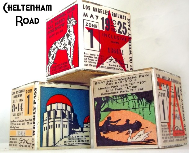 Vintage LA Graphic Tea Light Holders Cheltenham Road