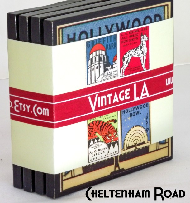 Vintage Los Angeles Coaster Pack Cheltenham Road