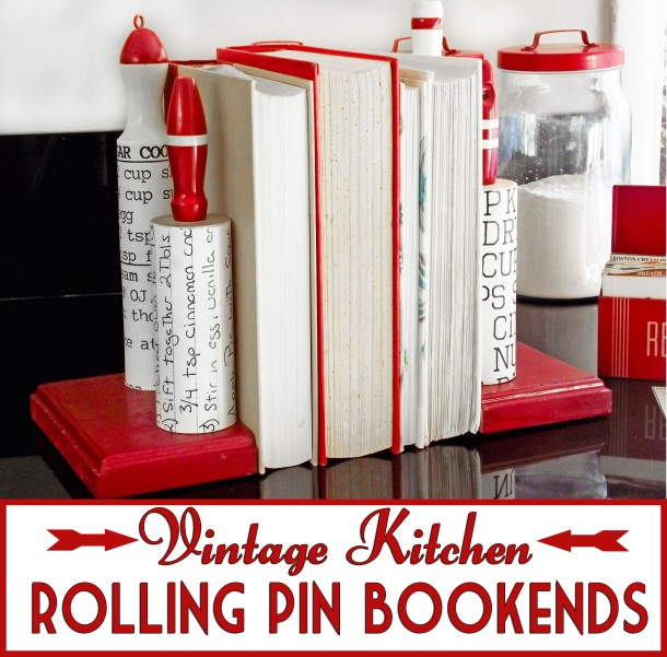 Rolling Pin Bookend Tutorial