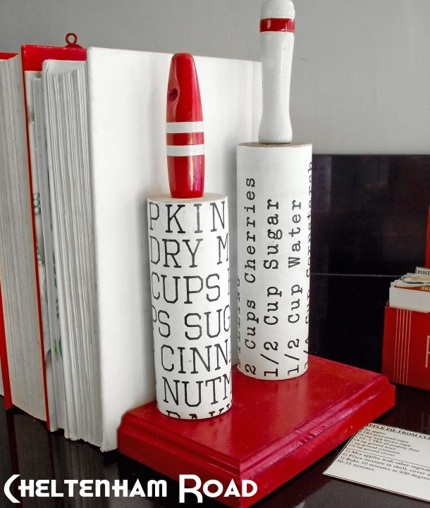 Vintage Rolling Pin Bookends Tutorial Cheltenham Road for Mod Podge Rocks