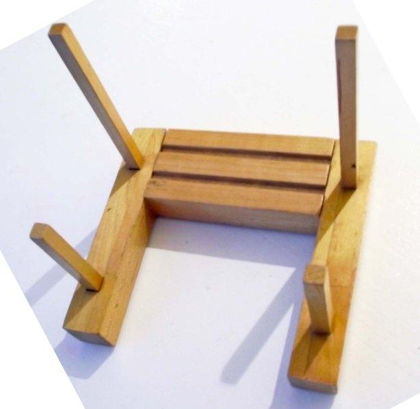 wooden rack displays