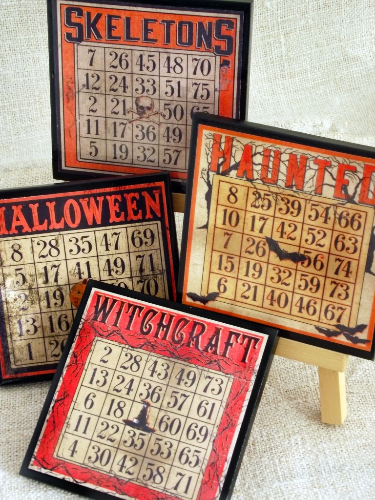 Halloween Bingo Card Coasters from Cheltenham Road