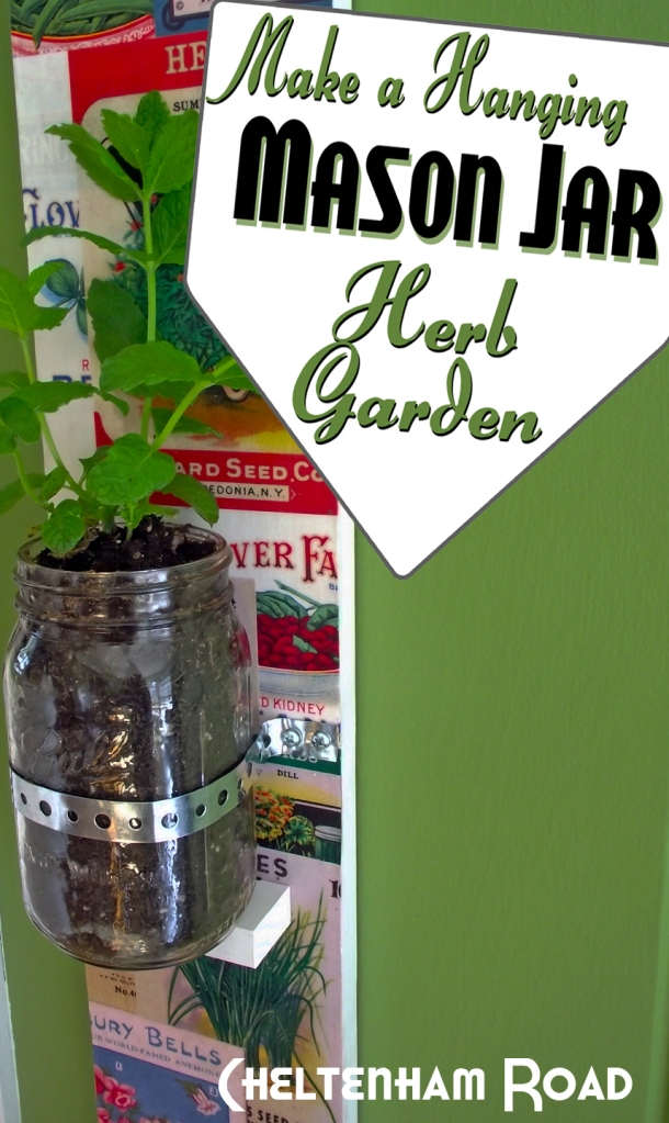 Make a Hanging Mason Jar Herb Garden Cheltenham Road for Mod Podge Rocks