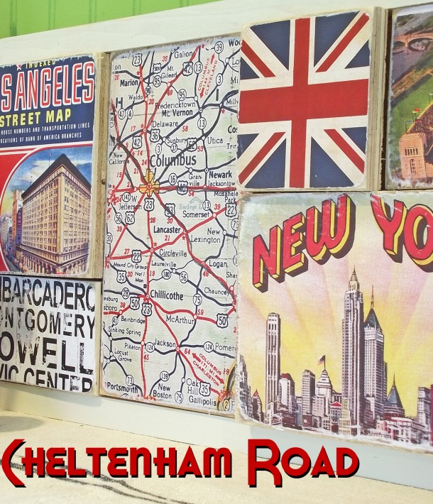 Cheltenham Road Wall Art Tutorial for Mod Podge Rocks