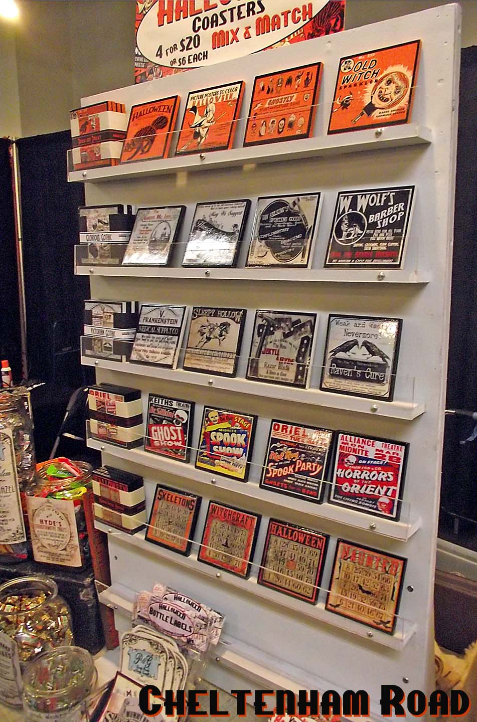 how to display coasters at craft show
