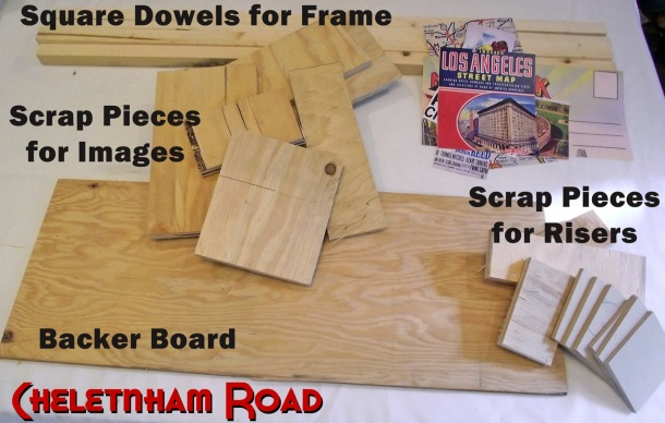 Scrap Wood Supplies for Dimensional Wall Art by Cheltenham Road