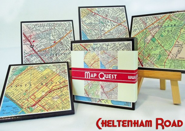 Local Love Los Angeles Map Coaster Set Cheltenham Road