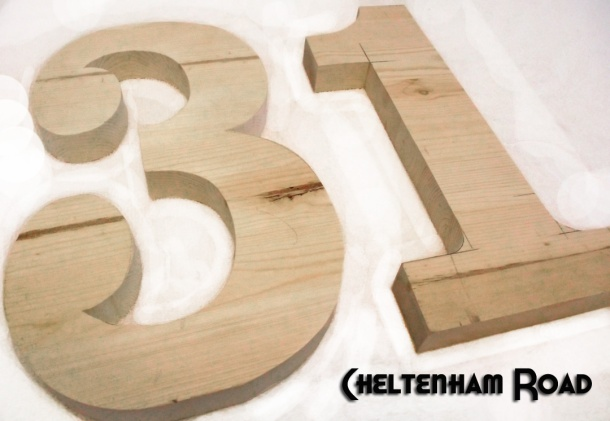 Wooden 31 Sign for Halloween Cheltenham Road