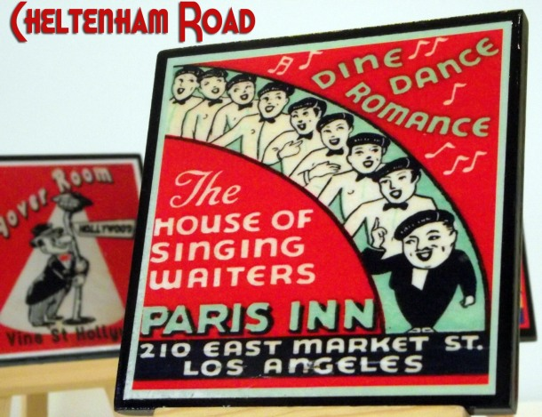 Los Angeles Vintage Cocktail Lounge Coasters by Cheltenham Road