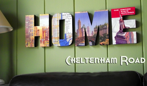 New York HOME sign by Cheltenham Road on Etsy