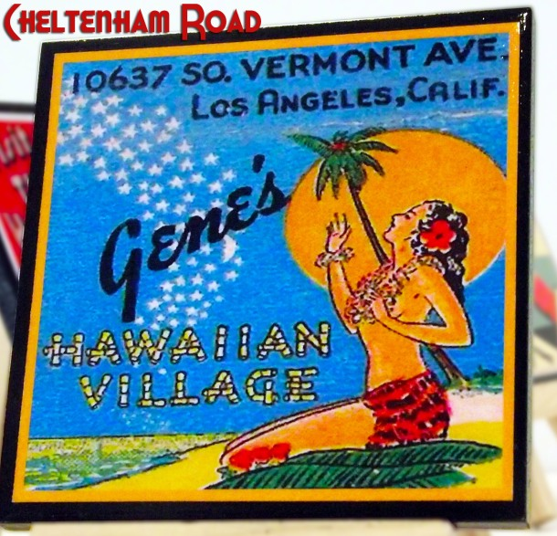 Retro Los Angeles Coaster Set Cheltenham Road