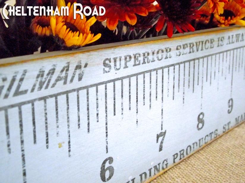 Vintage Ruler Image Transfer Project Cheltenham Road