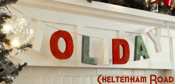 HOLIDAY Bunting Vintage Christmas Style Cheltenham Road