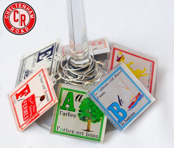 French Language Wine Charm Set
