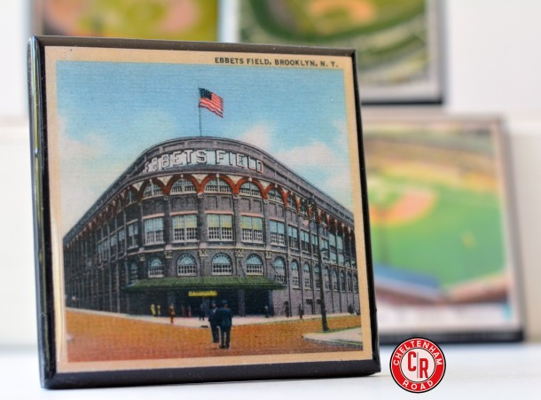 Ebbets Field.  Classic Baseball Stadium Coaster Set Cheltenham Road