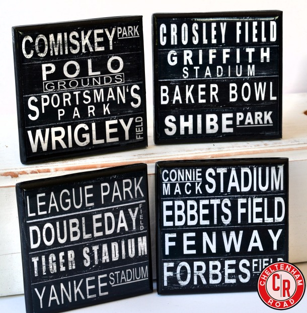 Class Baseball Field Coaster Set by Cheltenham Road