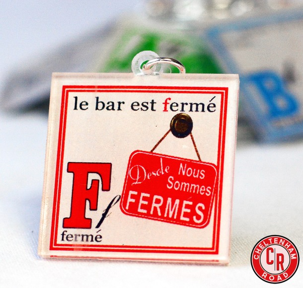 Designated Driver Wine Charm French ABCs