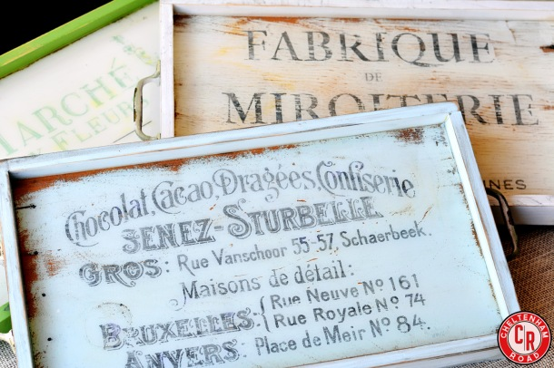 French Ephemera Scrap Wood Trays Tutorial