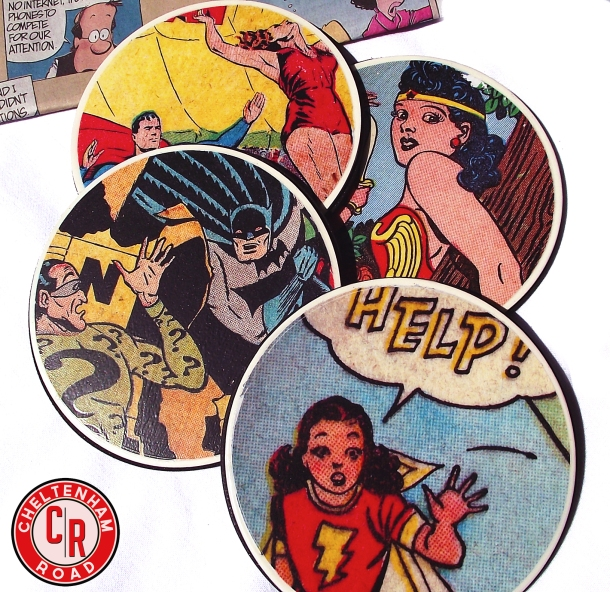 Vintage Comic Book Graphic Coasters Cheltenham Road Tutorial