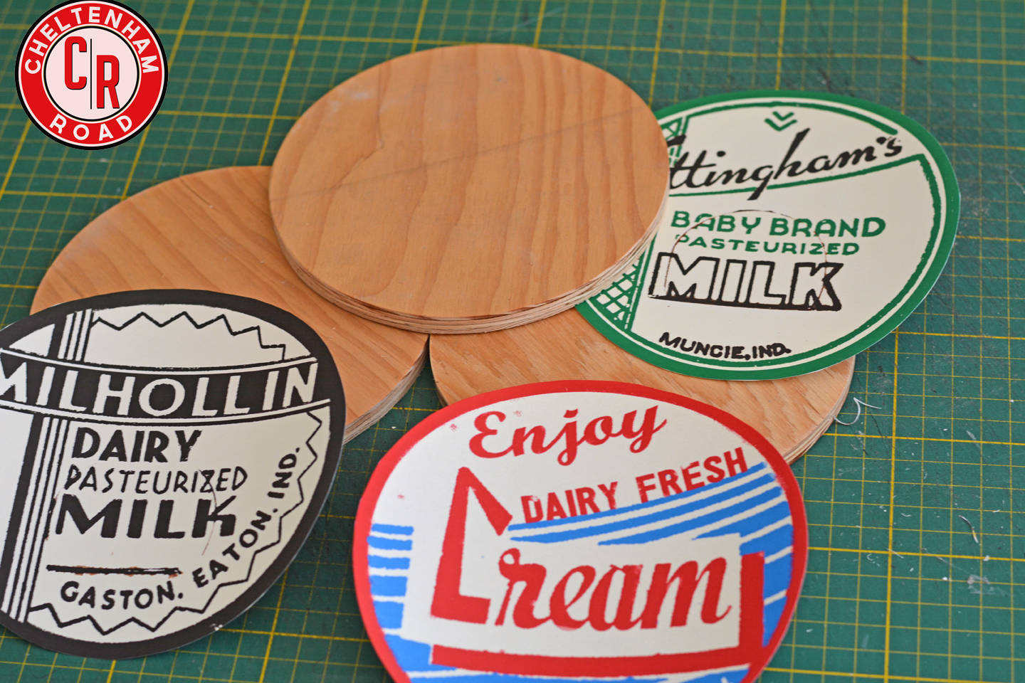 UWUG Project #5 Vintage Milk Bottle Label Wall Art with Free