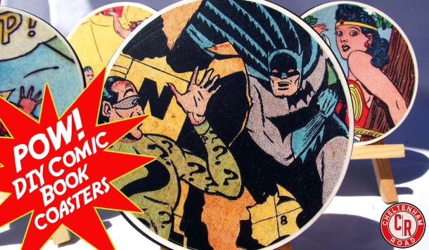 DIY Comic Book Coaster Set