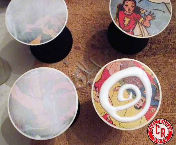 DIY Coasters with Vintage Comic Books a Cheltenham Road Tutorial