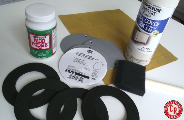 Supplies for DIY Superhero Coaster Set
