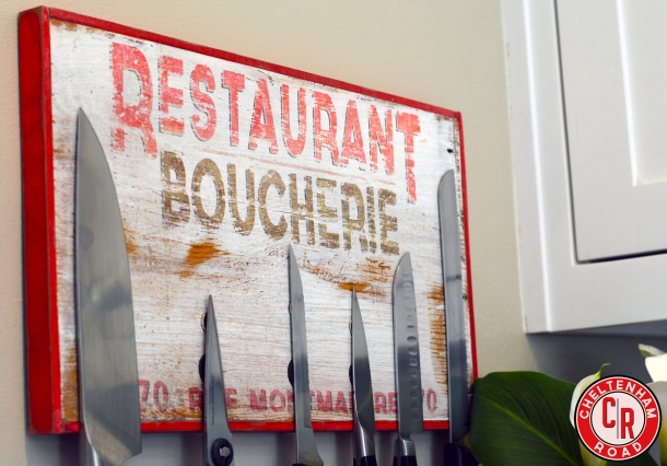 Make a vintage sign and use it as a knife holder  Cheltenham Road tutorial