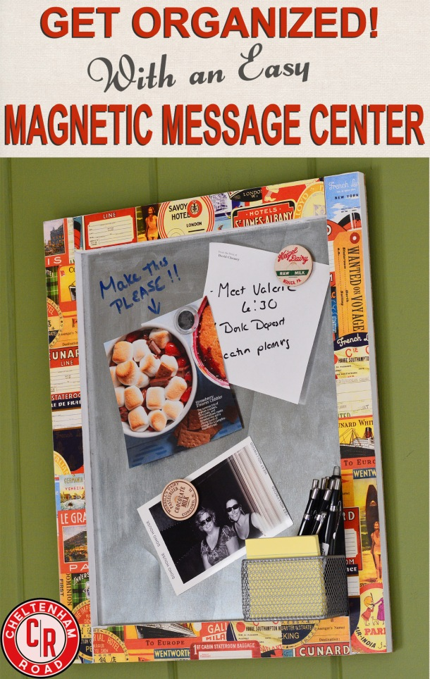 DIY Magnetic Memo Board