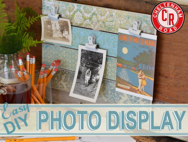 Easy DIY Photo Display Project Cheltenham Road