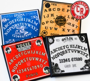vintage Ouija Board Coaster Set by Cheltenham Road