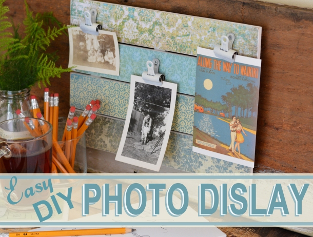 DIY Photo Display Tutorial Cheltenham Road for Mod Podge Rocks