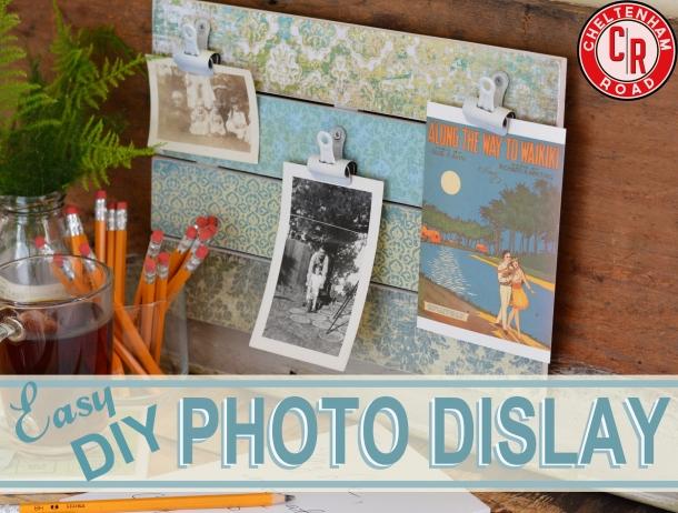 DIY Photo Display Tutorial Cheltenham Road
