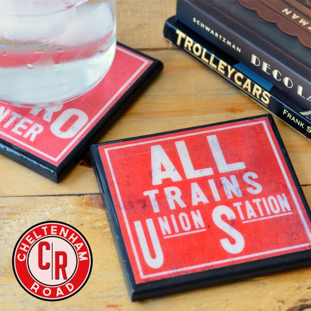 Subway Art Coaster Set by Cheltenham Road