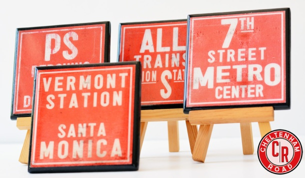 Subway Art Coaster Set