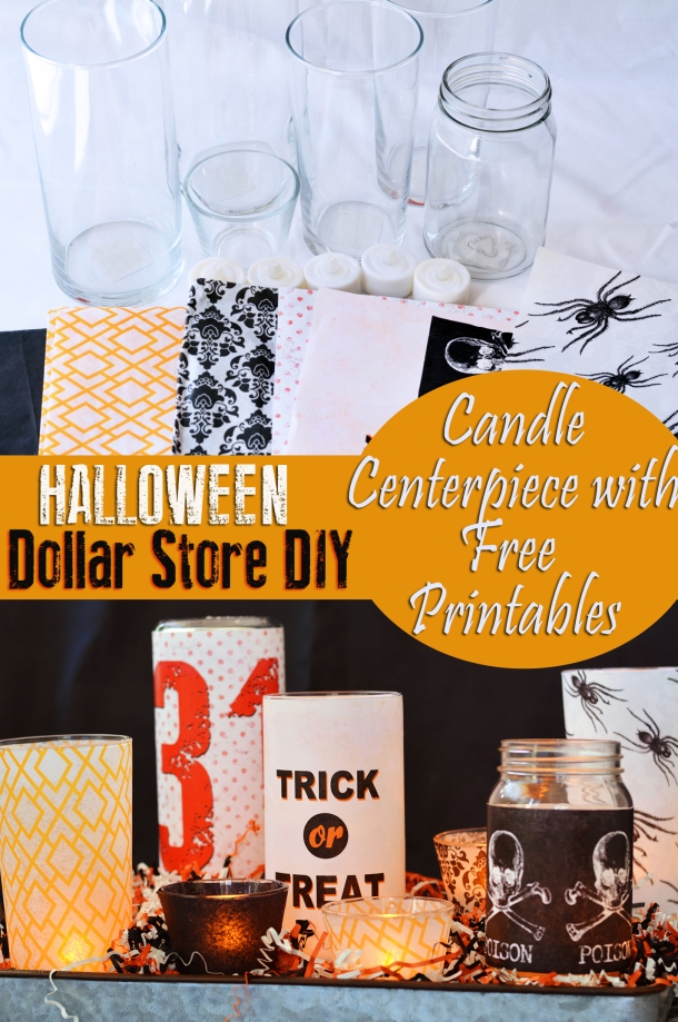 Easy DIY Halloween Centerpiece with free Printables Tutorial