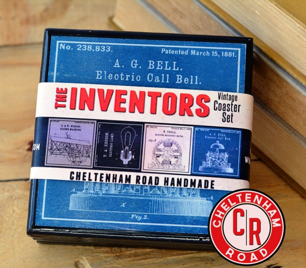 Great Inventors Coasters Set by Cheltenham Road