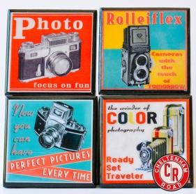 Vintage Cameras Coaster Set by Cheltenham Road