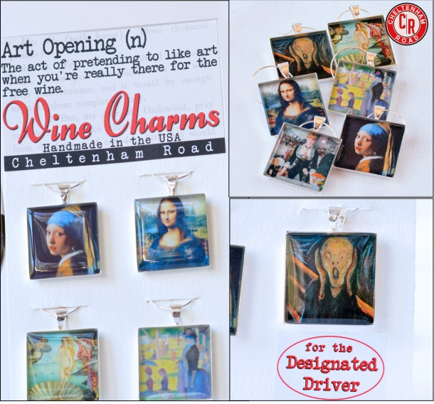 Art Opening Wine Charm Set by Cheltenham Road