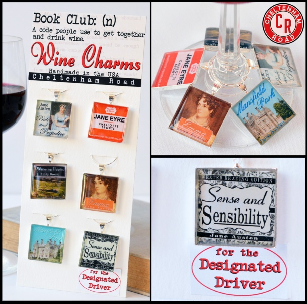 Book Club Wine Charm Collection by Cheltenham Road
