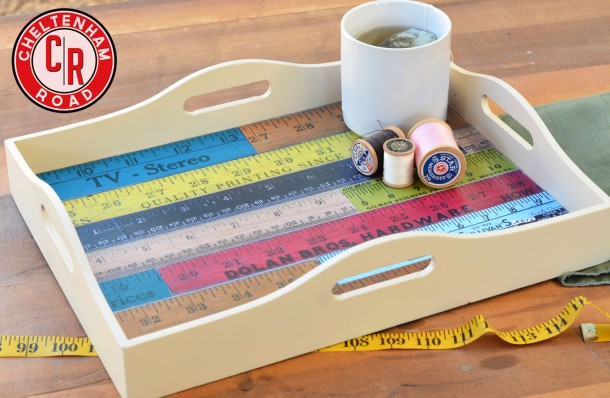 DIY Yarstick Tray tutorial