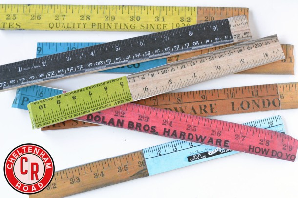 make your own vintage yardsticks