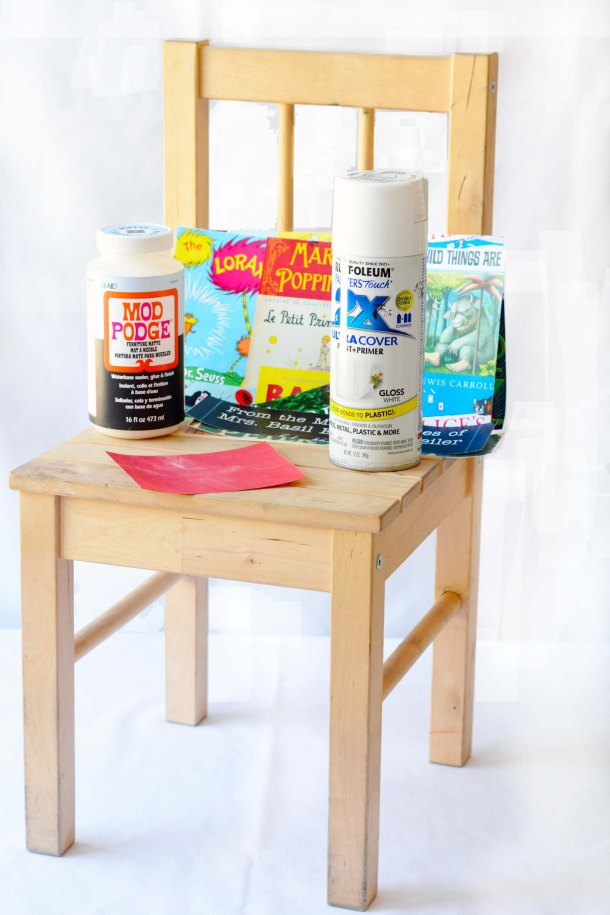 Child Chair Makeover with Mod Podge Ikea Hack Tutorial