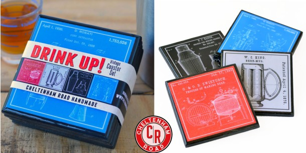 Coaster Set Barware graphics