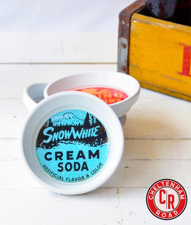 Soda Pop Label Coasters by Cheltenham Road
