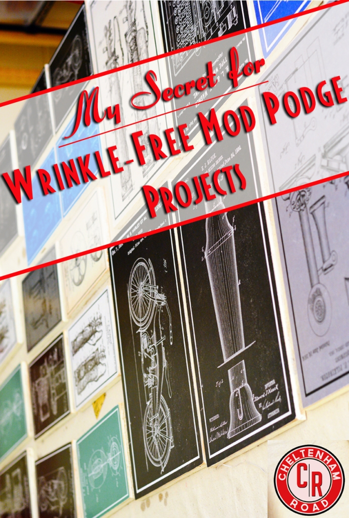 Easy Wrinkle Free Mod Podge