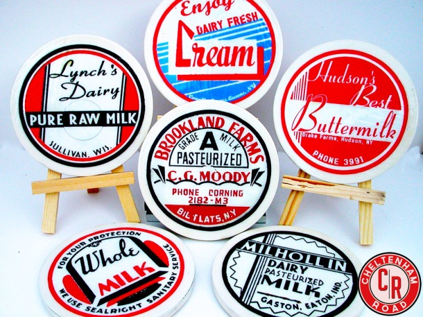 Vintage Dairy Label Coasters