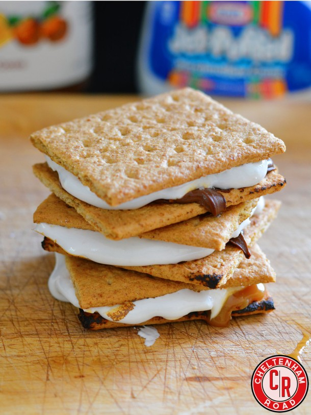 Salted Caramel Nutella S'mores
