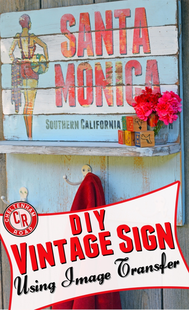 Image tranfer vintage sign tutorial